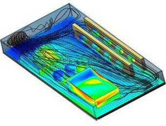 Dissipação de Calor em componente eletrônico