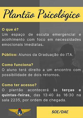 Plantão Psicológico SOE/DAE