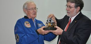 ITA receives Nasa's Astronaut who has joined Apollo 16 mission