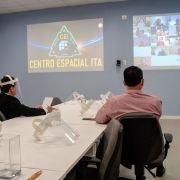 Reitor e Vice-reitor presentes na videoconferência de início do ITASAT-2