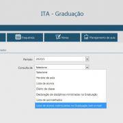 Lista de alunos matriculados na Graduação com e-mail